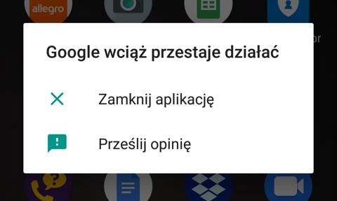 Trwa awaria aplikacji Google na smartfonach