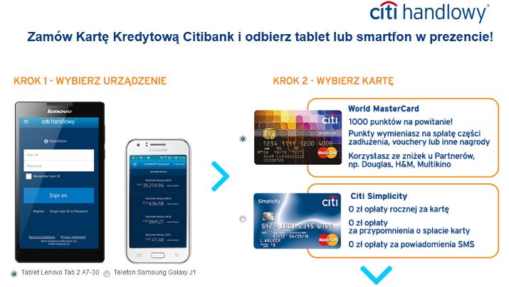 Karta kredytowa + 2 gadżety od Citi Handlowy!