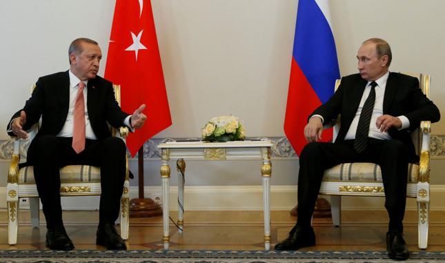 Prezydenta Turcji Recep Tayyip Erdogan i prezydent Rosji Władimir Putin