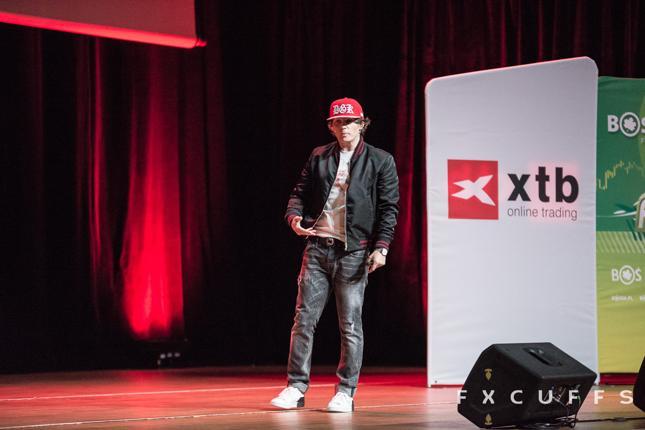 Rafał Zaorski, prezes Krypto Jam SA, w czasie wystąpienia na konferencji FX Cuffs 2018.