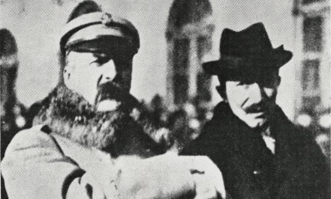 Józef Piłsudski i Wincenty Witos.
