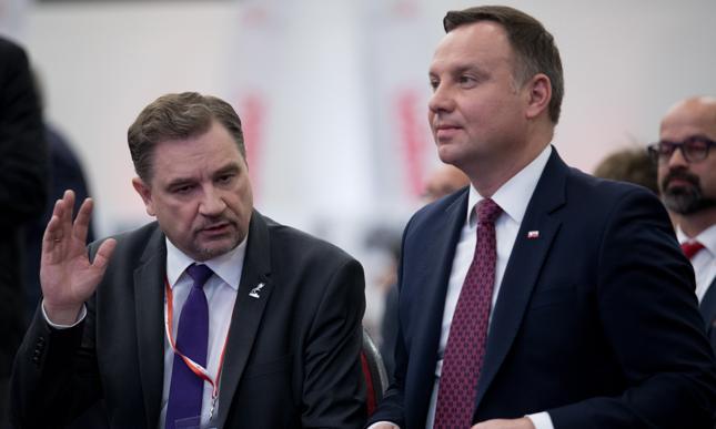 Szef Solidarności Piotr Duda i prezydent Andrzej Duda