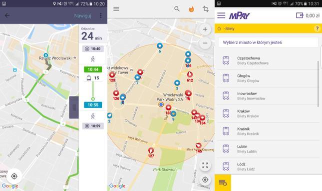 Smartfon pozwoli sprawdzić rozkład jazdy, opóźnienia i zapłacić za bilet
