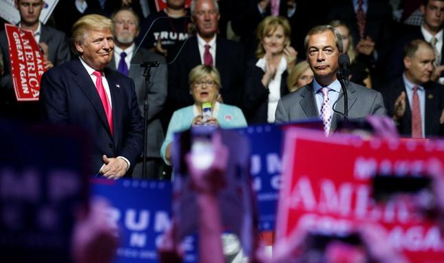 Donald Trump i Nigel Farage