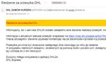 Uwaga na e-maile-pułapki od rzekomego DHL