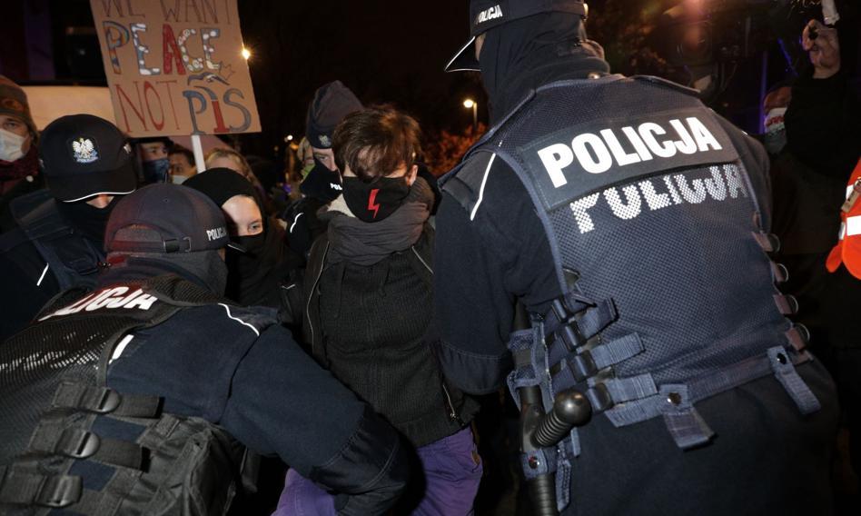 Protest pod Ministerstwem Edukacji Narodowej. Interweniowała policja