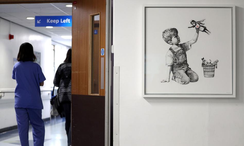 Obraz Banksy'ego trafi na aukcję. Może osiągnąć cenę 3,5 mln funtów