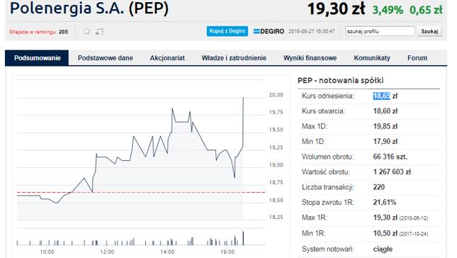 Dominika Kulczyk i Mansa Investments wzywają do sprzedaży 49,8 proc. Polenergii po 20,5 zł/szt.