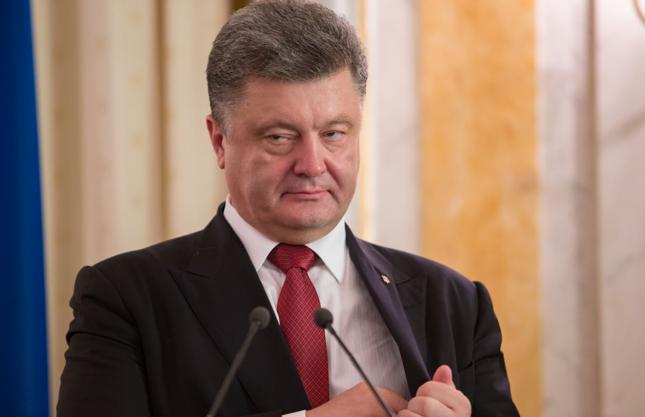 Prezydent Ukraina Petro Poroszenko