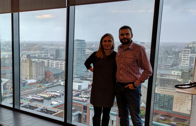 Monika Brandys i Jarek Kozak mieszkają w Dublinie