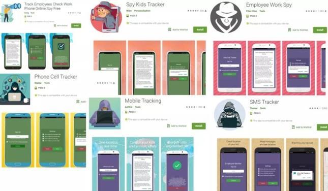 Aplikacje szpiegujące z Google Play zostały pobrane ponad 130 tys. razy.