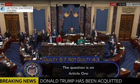 Senat USA uniewinnił Donalda Trumpa w procesie o impeachment