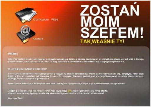 print screen ze strony zostanmoimszefem.pl