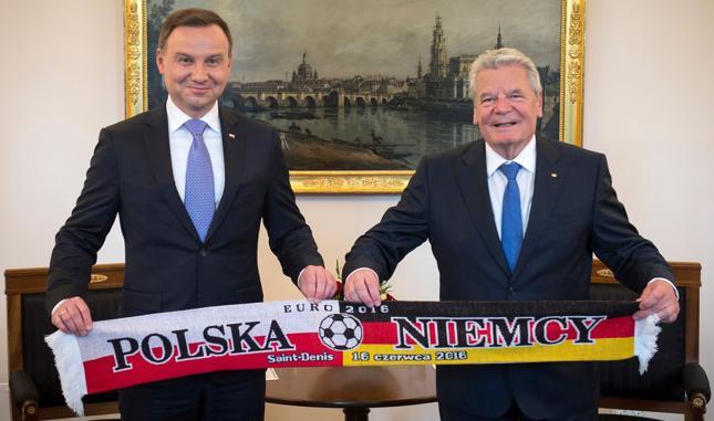 Prezydent Andrzej Duda i prezydent Joachim Gauck