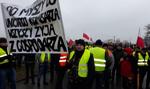 Rolnicy znów blokują drogę - protest na S8 w Rawie Mazowieckiej