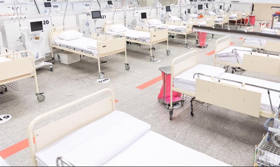 Szpital tymczasowy w Katowicach będzie gotowy w przyszłym tygodniu