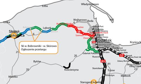 Kolejny pomorski odcinek drogi ekspresowej S6 skierowany do przetargu