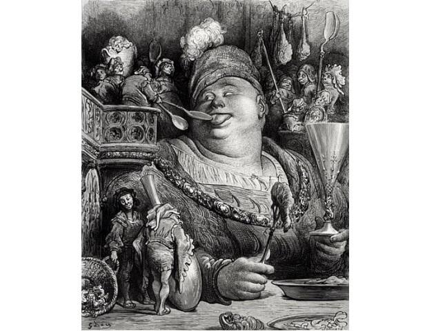 "Gustave Dore, ilustracja do ""Przygód Gargantui i Pantagruela"" (1854)"