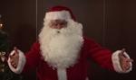 GIS w stroju św. Mikołaja zachęca do szczepień