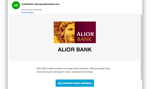 Dostałeś kupon pieniężny od Alior Banku? To oszustwo