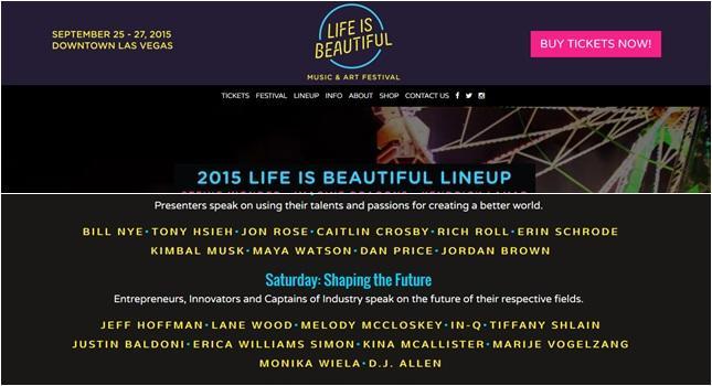 """We wrześniu Monika opowie o Give Back Box podczas konferencji """"Life is Beautiful"""". Swoje wystąpienia będą tam mieli m.in. Tony Hsieh z Zappos czy młodszy brat twórcy Tesli, Kimbal Musk."""