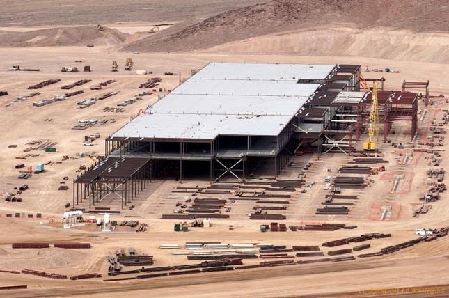Plac budowy Tesla Gigafactory w lutym 2015 roku