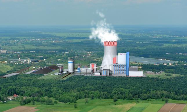 Elektrownia Ostrołęka C - wizualizacja