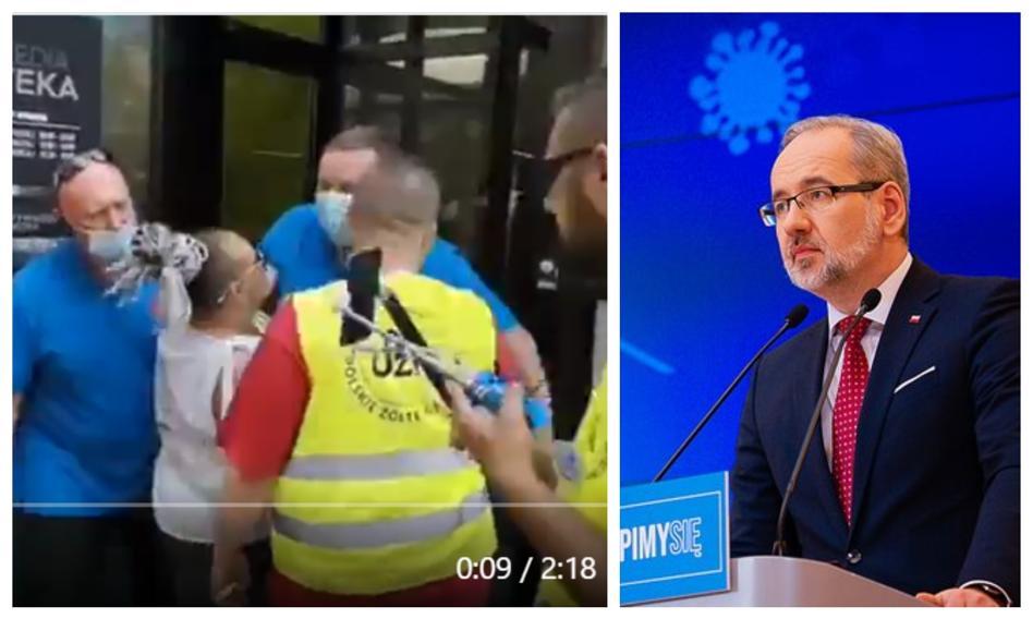 """Awantura pod punktem szczepień w Grodzisku Mazowieckim. """"To trzeba piętnować"""""""