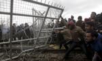 Gaz łzawiący przeciwko migrantom na granicy grecko-macedońskiej