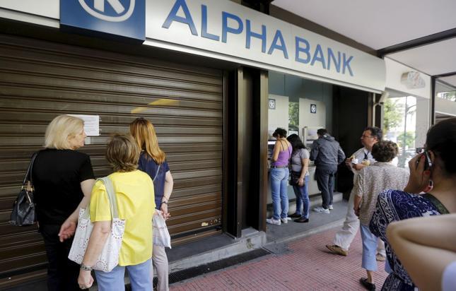 Bank zamknięty do odwołania. Grecja, lipiec 2015 r.