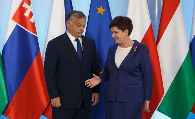 Premier Beata Szydło i premier Węgier Victor Orban