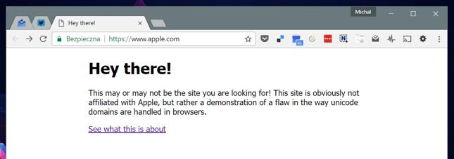 Strona przypominająca serwis Apple stworzona przez chińskiego eksperta