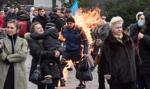 Mężczyzna podpalił się przed budynkiem Biura Prezydenta w Kijowie