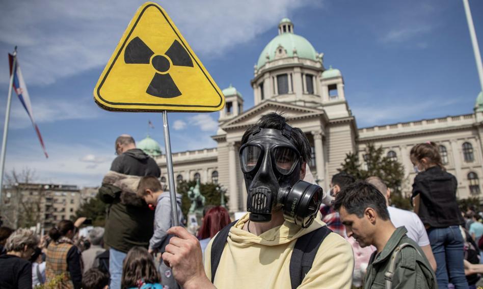 W Belgradzie protest przeciwko zanieczyszczaniu środowiska przez przemysł