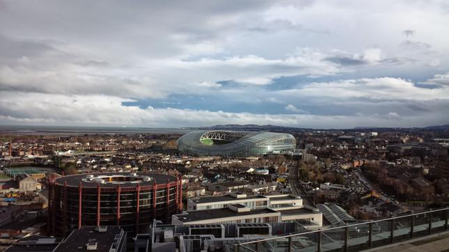 Widok na Dublin