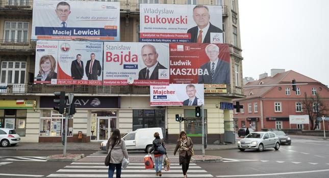 Plakaty i banery wyborcze zaczynają opanowywać miejski krajobraz