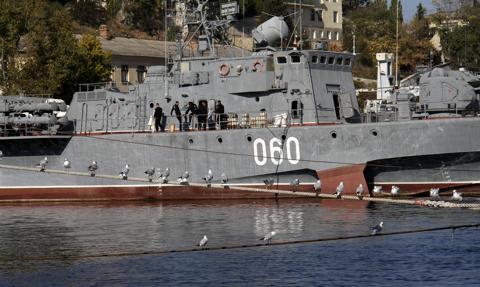 Okręty rosyjskiej Floty Czarnomorskiej wypłynęły na ćwiczenia artyleryjskie