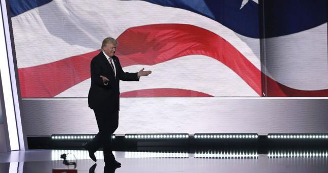 Donald Trump w przemowie na konwencji w Cleveland obiecał wprowadzenie rządów prawa i porządku