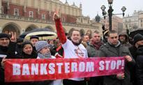 Protesty frankowców - chcą pomocy w spłacie kredytów