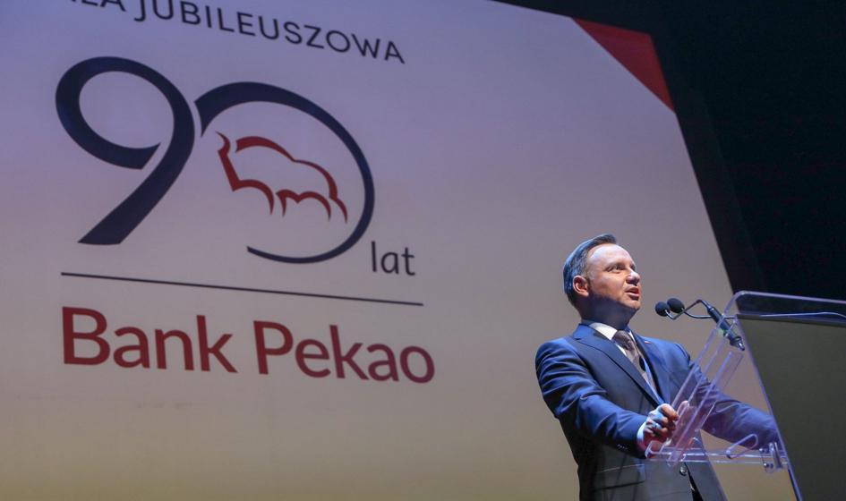 Prezydent: Chcemy, żeby bank Pekao jak najlepiej się rozwijał