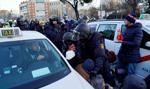 Starcia taksówkarzy z policją w Madrycie