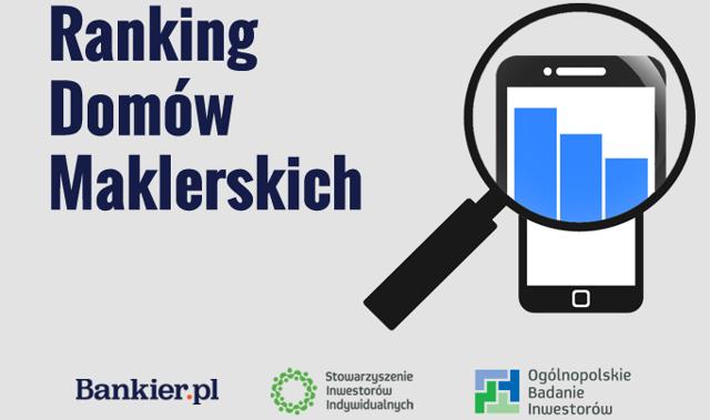 Ranking domów maklerskich 2018: DM PKO BP, DM BOŚ i BM ING Banku Śląskiego znów na podium