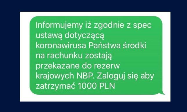 PKO Bank Polski pokazał treść fałszywego SMS-a