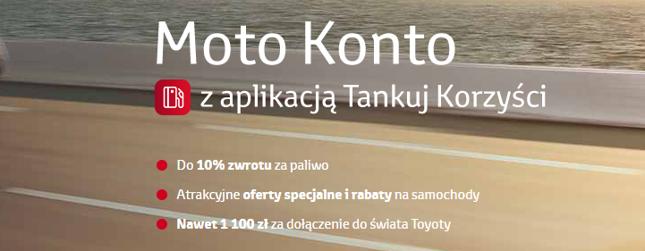 Moto Konto w Toyota Banku – warunki