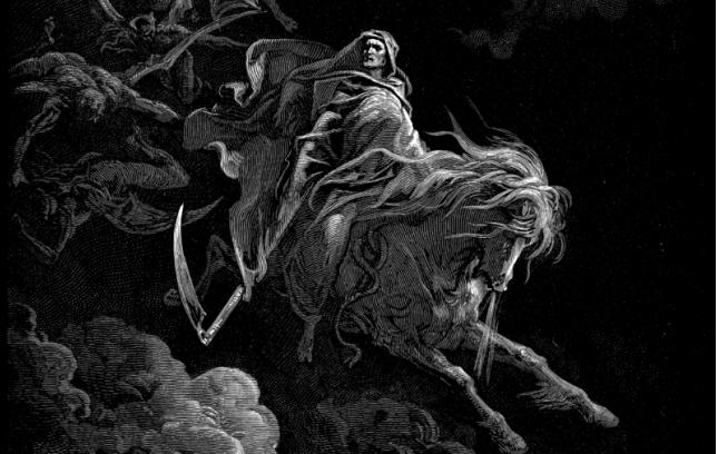 """""""Czwarty Jeździec"""", Gustave Dore (1865)"""