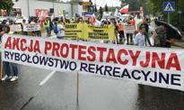 Protest rybaków we Władysławowie. Droga na Hel zablokowana