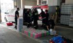 Strażacy sami wyprodukowali 13 tys. litrów płynu dezynfekcyjnego