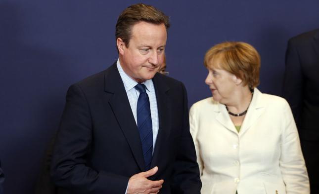 Premier Wielkiej Brytanii David Cameron i kanclerz Angela Merkel