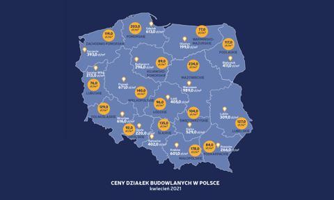 Ceny ofertowe najmniejszych działek w miastach wystrzeliły [Nowy raport]