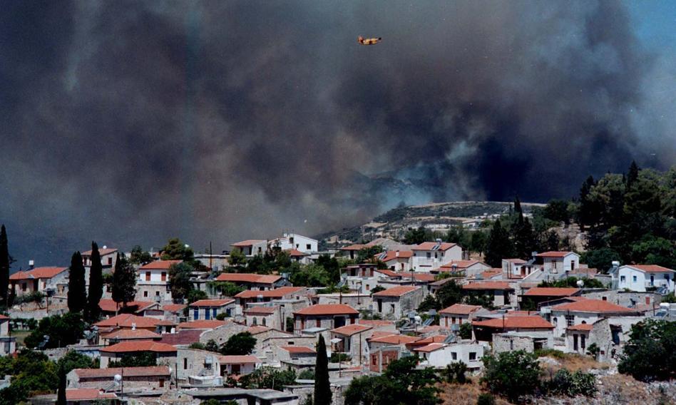 Gigantyczny pożar na Cyprze. Władze liczą straty
